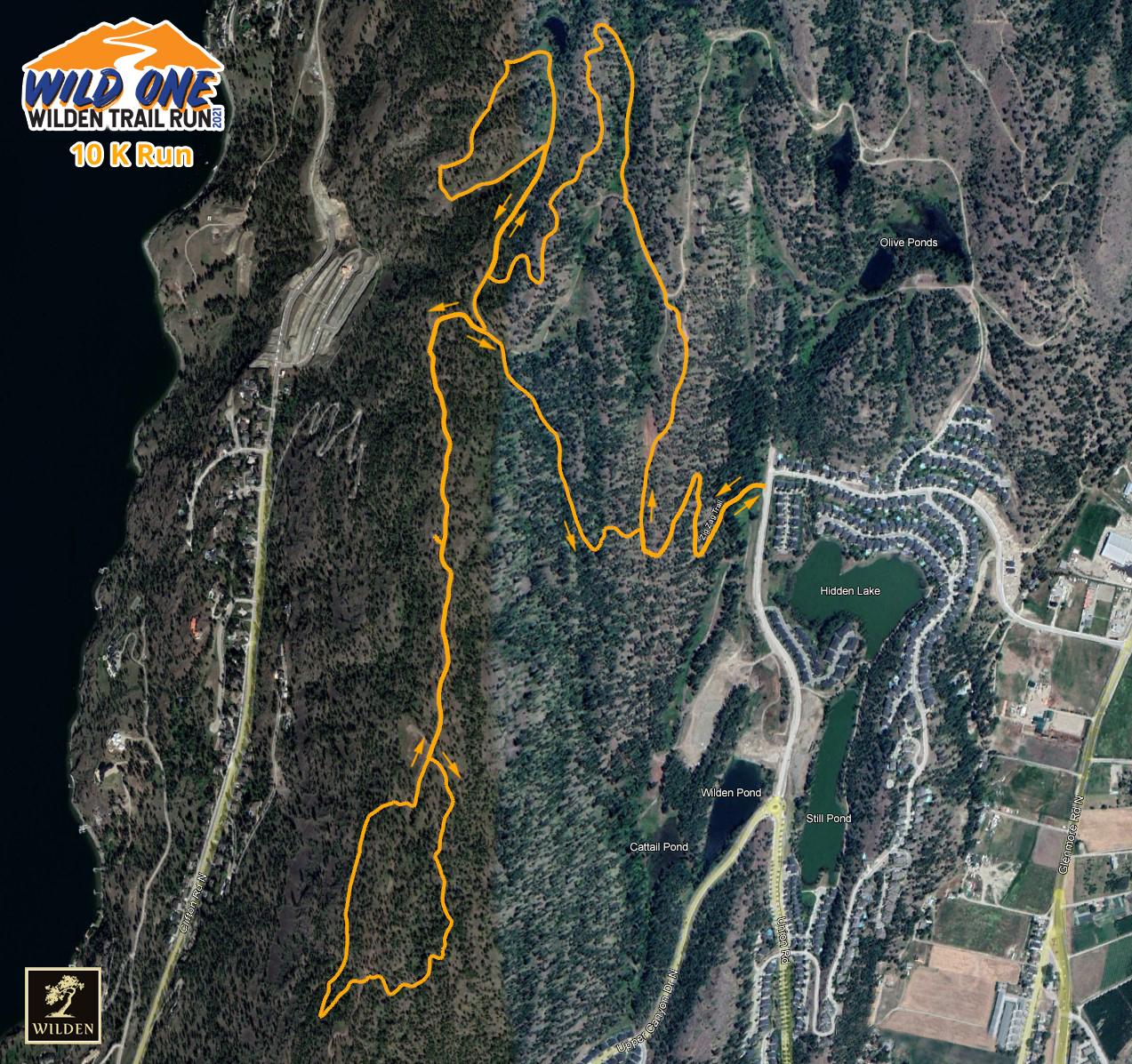 10K Wild One Run Route screenshot image