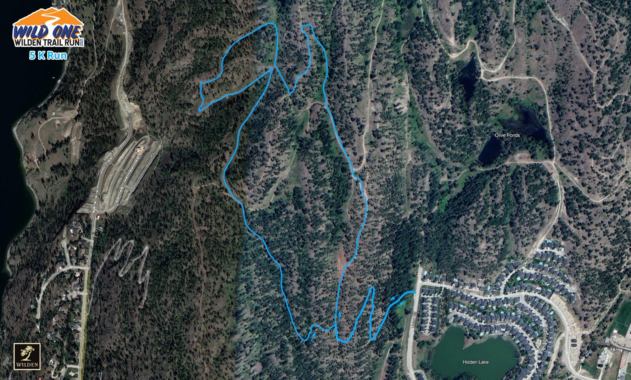 5K Wild One Run Route screenshot image